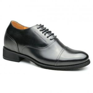 靴紐タイプ ドレスシューズ 7.5cmUP ストレートチップ内羽根ビジネスシューズ(ID:134)